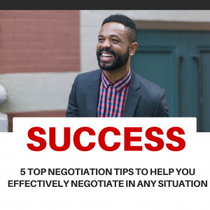 tips to negotiate to succeed